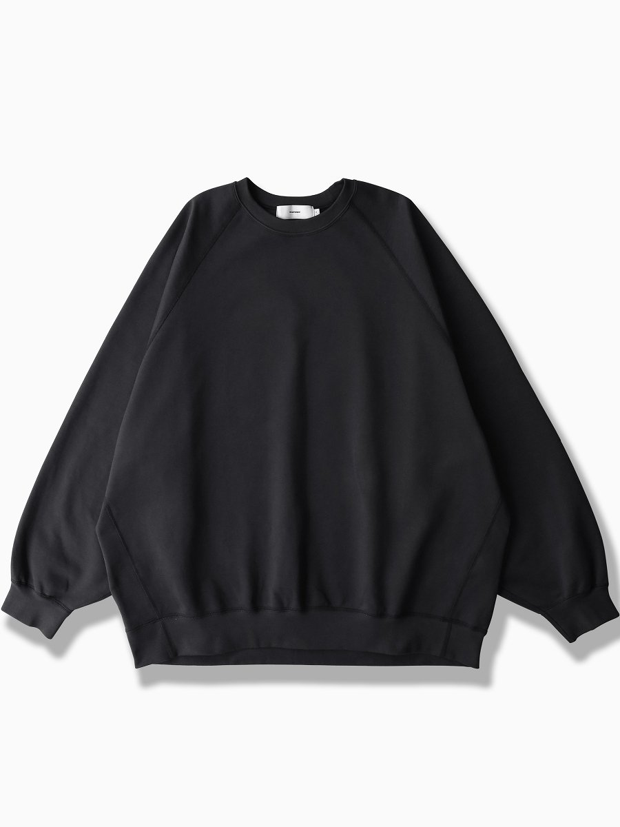 BRAND : Graphpaper<br>MODEL : COMPACT TERRY CREW NECK<br>COLOR :   BLACK