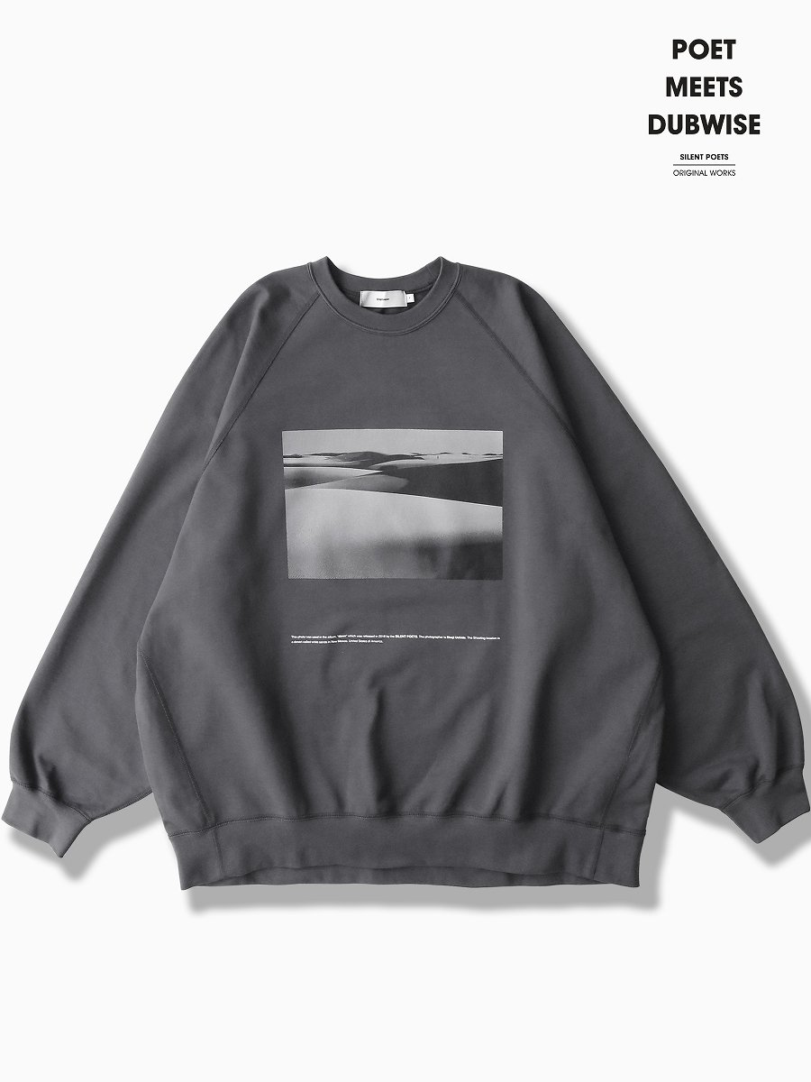 """BRAND : Graphpaper<br>MODEL : Poet Meets Dubwise for GP COMPACT TERRY CREW NECK """"DAWN"""""""