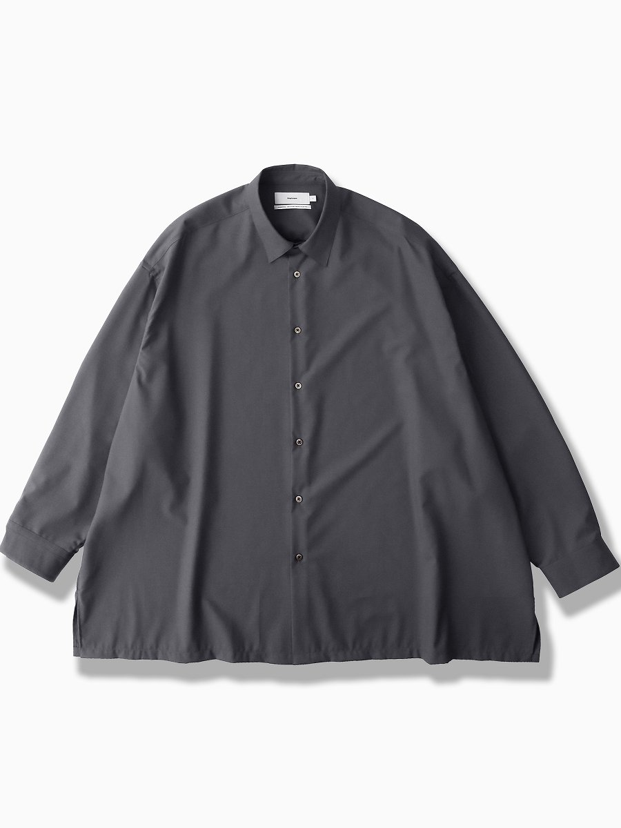 BRAND : Graphpaper<br>MODEL : FINE WOOL TROPICAL OVERSIZED SHIRT<br>COLOR :  GRAY