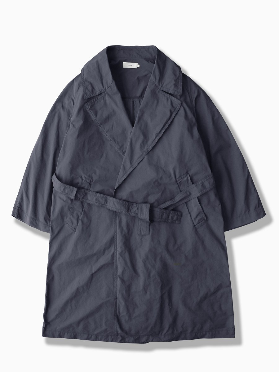 BRAND : Graphpaper<br>MODEL : GARMENT DYED GOWN COAT<br>COLOR :  GRAY