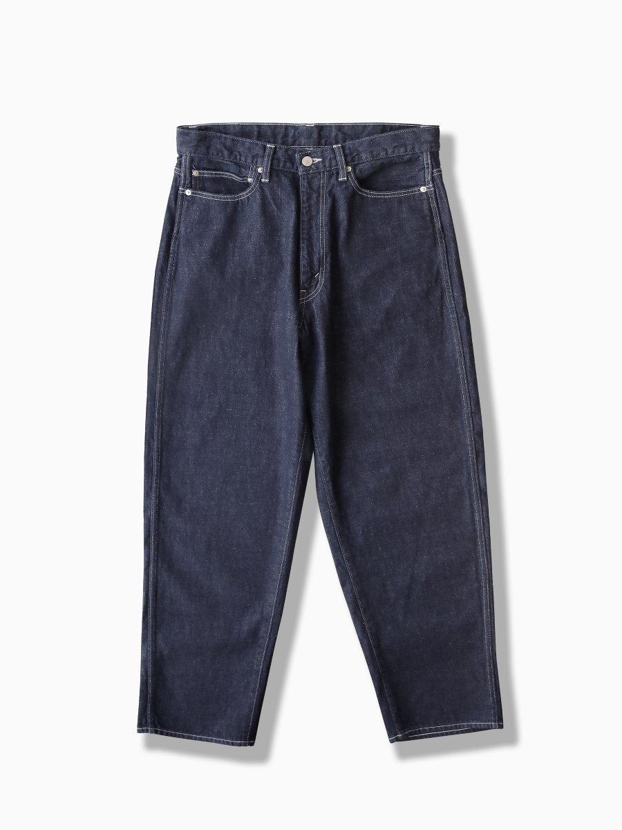 BRAND : Graphpaper<br>MODEL : DENIM FIVE POCKET PANTS<br>COLOR : INDIGO