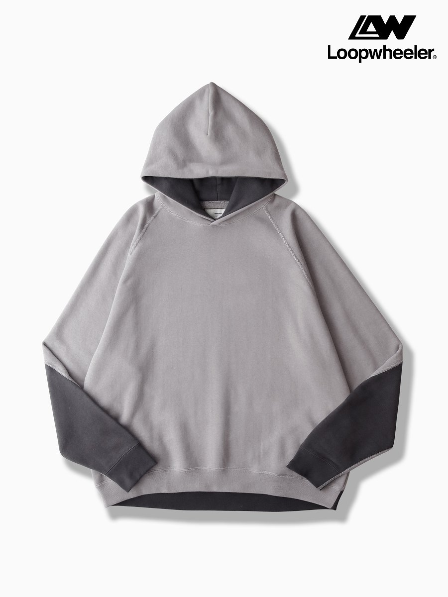 BRAND : Graphpaper<br>MODEL : LOOPWHEELER for GP SWEAT PARKA<br>COLOR :  GRAY×C.GRAY
