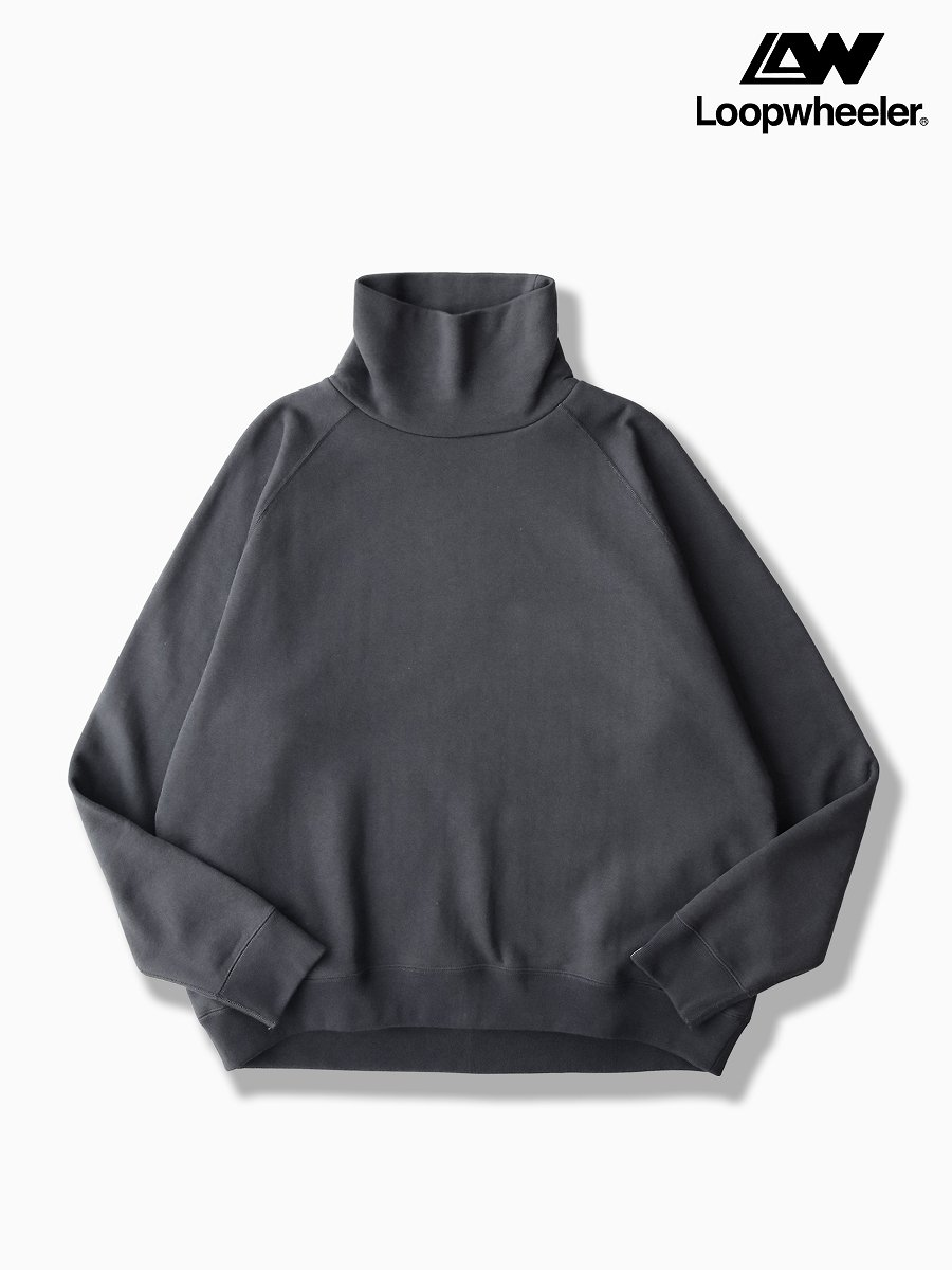 BRAND : Graphpaper<br>MODEL : LOOPWHEELER for GP HIGH NECK SWEAT<br>COLOR :  C.GRAY