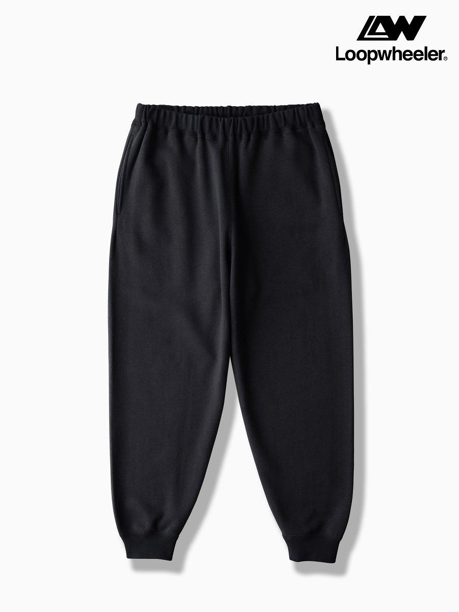 BRAND : Graphpaper<br>MODEL : LOOPWHEELER for GP SWEAT PANTS<br>COLOR :  BLACK