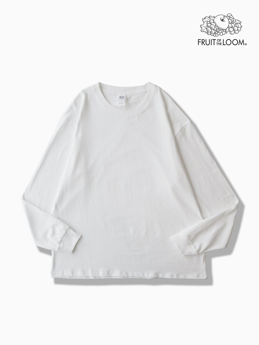 BRAND : VAINL ARCHIVE<br>CONNECTED : FRUIT OF THE ROOM<br>MODEL : LS TEE<br>COLOR : WHITE