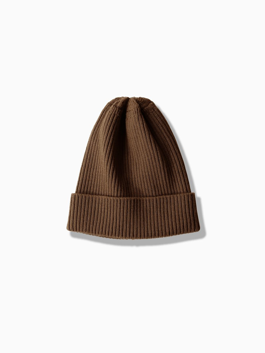BRAND : VAINL ARCHIVE<br>MODEL : RIB-CONE-TALL<br>COLOR : BROWN