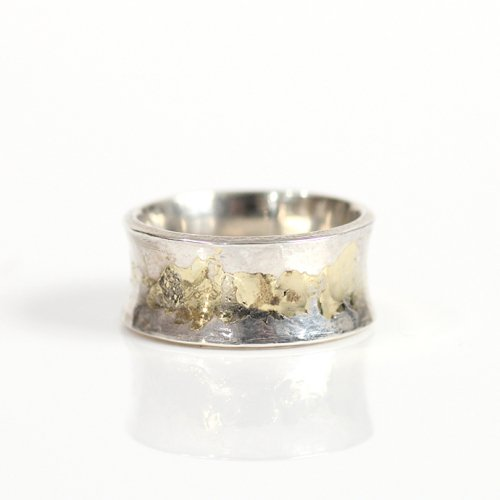 hirondelle et pepin(イロンデールエペパン) / k18 silver sr-12 プレートリング 12