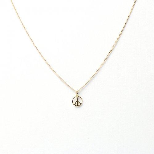 【廃番商品】hirondelle et pepin(イロンデールエペパン) / k18 hn-469 ピースマーク ネックレス