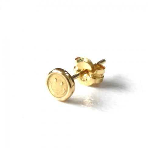 hirondelle et pepin(イロンデールエペパン) / k18 hp-513 スマイルスタンプ ピアス 1 (片耳タイプ)