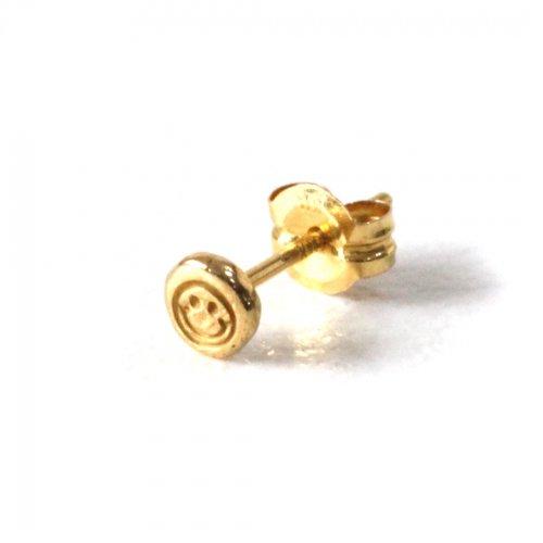 hirondelle et pepin(イロンデールエペパン) / k18 hp-514 スマイルスタンプ ピアス 2 (片耳タイプ)
