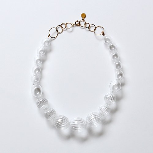SIRISIRI / CL407 CLASSIC necklace SPHERE STRIPE ネックレス