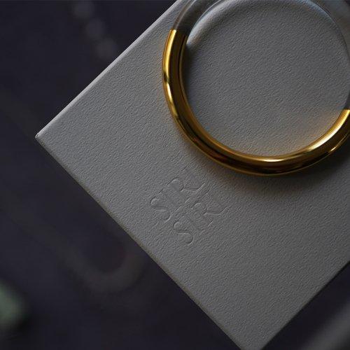 SIRISIRI / CL103 CLASSIC CIRCLE バングル - ゴールド