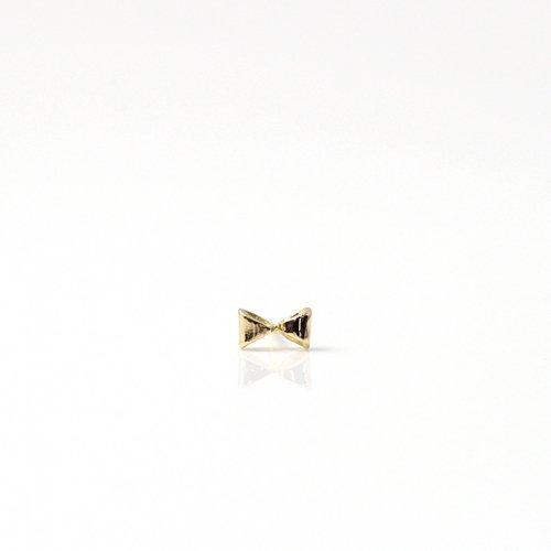 【廃番商品】hirondelle et pepin(イロンデールエペパン) / k18 hp-526-16s ミニリボン ピアス (片耳タイプ)