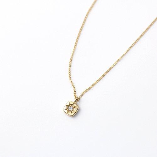 hirondelle et pepin(イロンデールエペパン) / k18 hn-488-16s 星留めダイヤネックレス