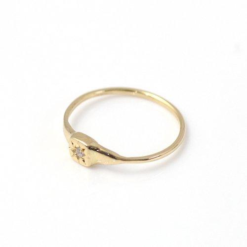 hirondelle et pepin(イロンデールエペパン) / k18 hr-500-16s 星留めダイヤリング 2