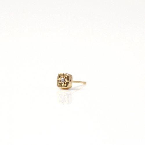 hirondelle et pepin(イロンデールエペパン) / k18 hp-535-16s 星留めダイヤピアス (片耳タイプ)