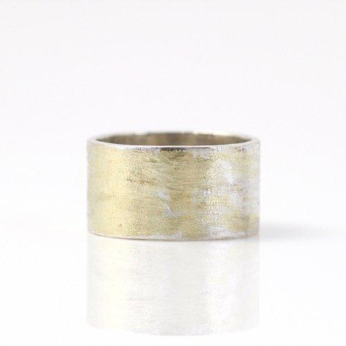 【廃番商品】hirondelle et pepin(イロンデールエペパン) / k18 silver sr-14-16s プレートリング 14 - マット