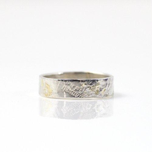 【廃番商品】hirondelle et pepin(イロンデールエペパン) / k18 silver sr-17-16s coinスタンプ プレートリング 17 S