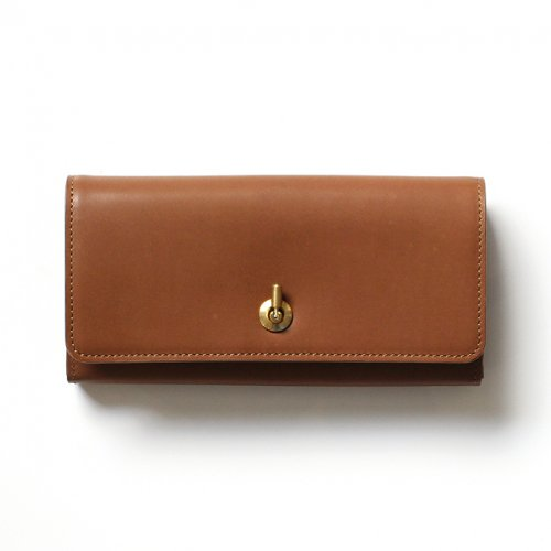 Ense(アンサ) / long wallet オコシロングウォレット ew116 - キャメル (キップレザー)