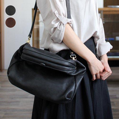 Ense(アンサ) / gamaguchi shoulder S 2way レザー ガマグチショルダーバッグ pens350 - 全2色