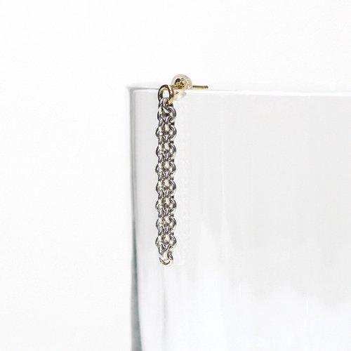 Perche?(ペルケ) / silver loop チェーンピアス 2 (片耳タイプ)