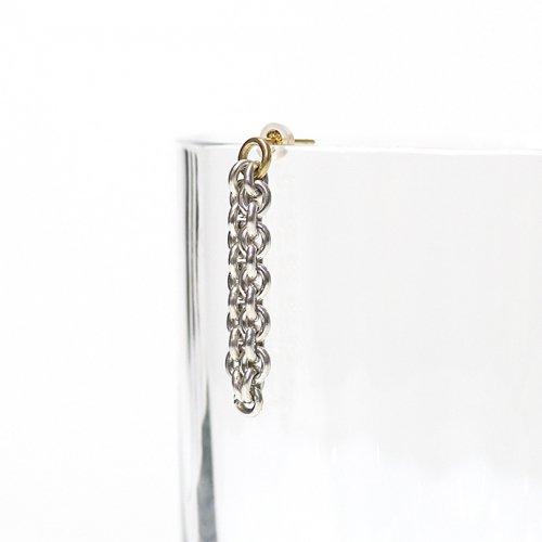 Perche?(ペルケ) / silver loop チェーンピアス 3 (片耳タイプ)