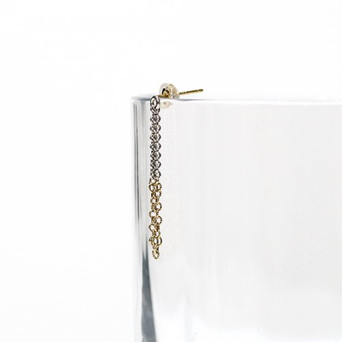 Perche?(ペルケ) / k18 silver loop half チェーンピアス 1 - 全2色 (片耳タイプ)