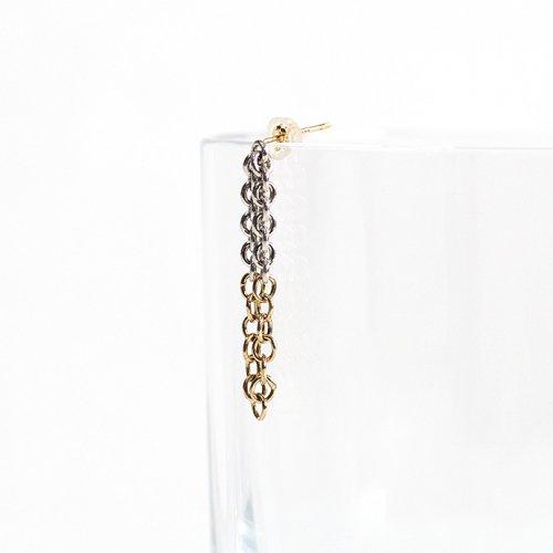 Perche?(ペルケ) / k18 silver loop half チェーンピアス 2 - 全2色 (片耳タイプ)