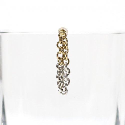Perche?(ペルケ) / k18 silver loop half チェーンピアス 3 - 全2色 (片耳タイプ)