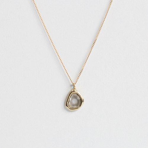 【廃番商品】hirondelle et pepin(イロンデールエペパン) / k18 hn-502-17w スライスダイヤネックレス