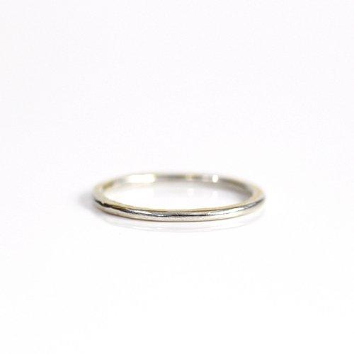 【廃番商品】hirondelle et pepin(イロンデールエペパン) / k18 silver sr-19-17w ペタンコプレートリング 19 S
