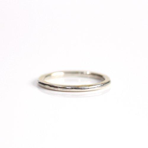 【廃番商品】hirondelle et pepin(イロンデールエペパン) / k18 silver sr-20-17w ペタンコプレートリング 20 M
