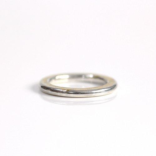 【廃番商品】hirondelle et pepin(イロンデールエペパン) / k18 silver sr-21-17w ペタンコプレートリング 21 L