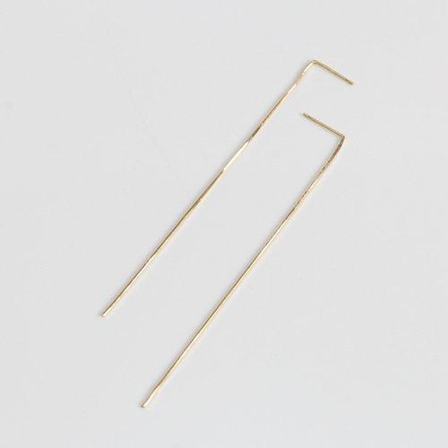 hirondelle et pepin(イロンデールエペパン) / k18 hp-552-17w 極細スネークチェーン ピアス(両耳タイプ)