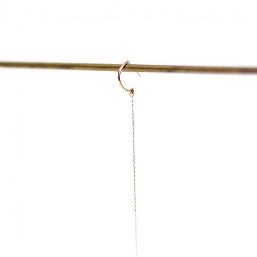 hirondelle et pepin(イロンデールエペパン) / k18 hp-555-17w 極細チェーンピアス (片耳タイプ)