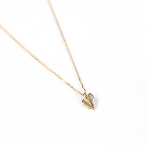 hirondelle et pepin(イロンデールエペパン) / k18 pt900 pn-33-17w プラチナ&ゴールド ハートネックレス