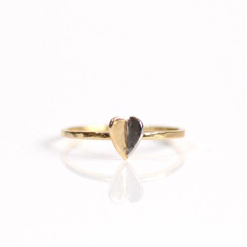 hirondelle et pepin(イロンデールエペパン) / k18 pt900 pr-100-17w プラチナ&ゴールド ハートリング