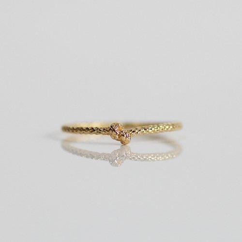 moca.arpeggio(モカ アルペジオ) / CR-14 Knot 結びリング - ゴールド