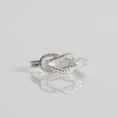 moca.arpeggio(モカ アルペジオ) / CR-13 Knot 飾り結びリング - シルバー