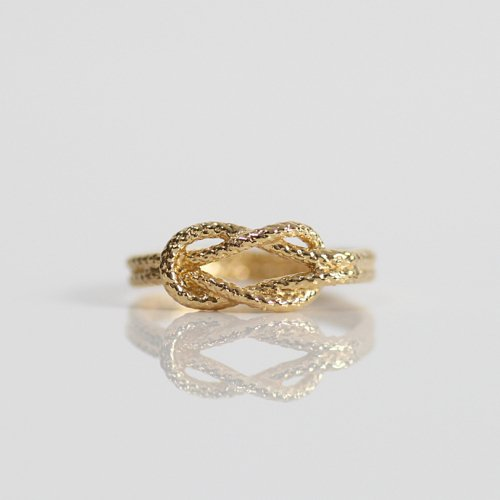 moca.arpeggio(モカ アルペジオ) / CR-15 Knot 飾り結びリング - ゴールド