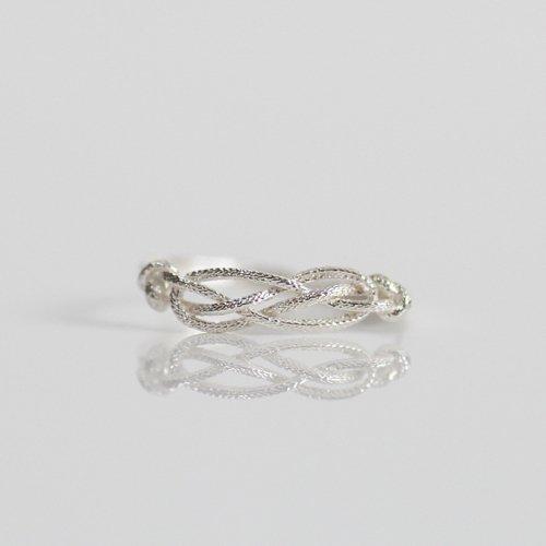 moca.arpeggio(モカ アルペジオ) / silver CR-9 Knot 飾り結びリング - シルバー