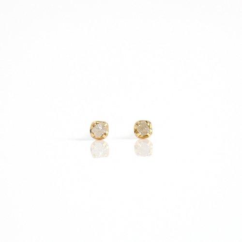 sinc(シンク) / k18 原石ダイヤモンド ピアスS - グレー