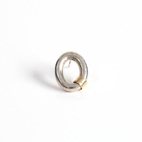 【廃番商品】hirondelle et pepin(イロンデールエペパン) / k18 silver sp-16-18s ビッグチェーンピアス 1 (片耳タイプ)