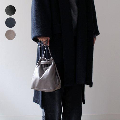 SEASIDE FREERIDE(シーサイドフリーライド) / 2way シープレザー 巾着型 ミニポシェット NID BAG L - 全3色