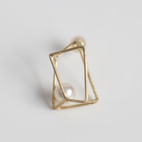 MINIMUMNUTS(ミニマムナッツ) / k14 MN-pic005 ice cube ピアス L - パール (片耳タイプ)