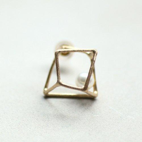 MINIMUMNUTS(ミニマムナッツ) / k14 MN-pic006 ice cube ピアス M - パール (片耳タイプ)