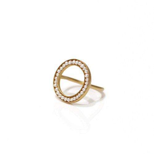 revie objects(レヴィオブジェクツ) / RO1-01 ●pearl ring マルパールリング