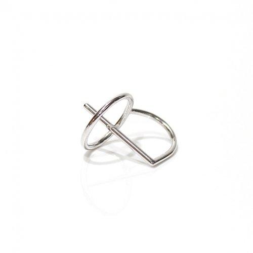 revie objects(レヴィオブジェクツ) / LI1-02 〈LINKING〉 penetrating ring SV リング - シルバー