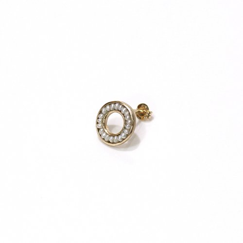 revie objects / 旧 Rice revie objects/ 旧 Rice/ RO2-04 ●pearl earring mini マルパールピアス ミニ(片方タイプ)