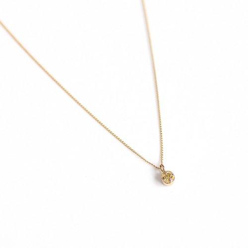 【廃番商品】hirondelle et pepin(イロンデールエペパン) / k18 hn-507-18s イエローダイヤ ネックレス